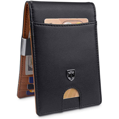 6. TRAVANDO Money Leather Wallet