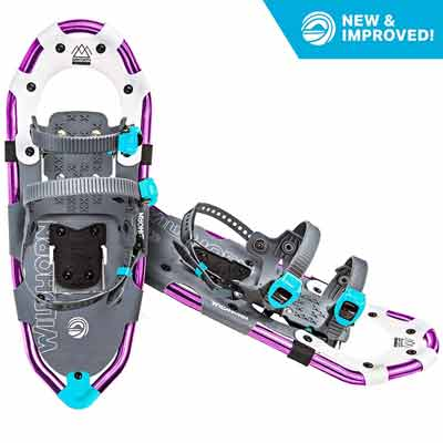 #5. WildHorn Outfitters Fully Adjustable Bindings Lightweight 2019 Model Sawtooth Snow Shoes