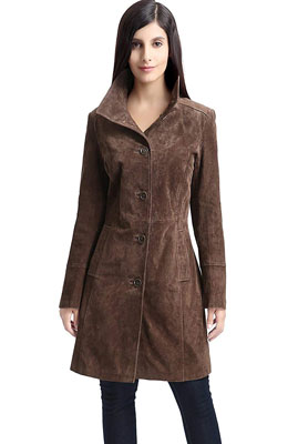 1. BGSD Women's Leather Walking Coat
