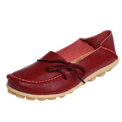 7- DUOYANGKIASHA Women's Leather Loafers
