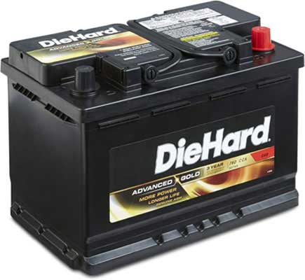 5. DieHard 50748 Advanced G.P. 48 Gold AGM Battery