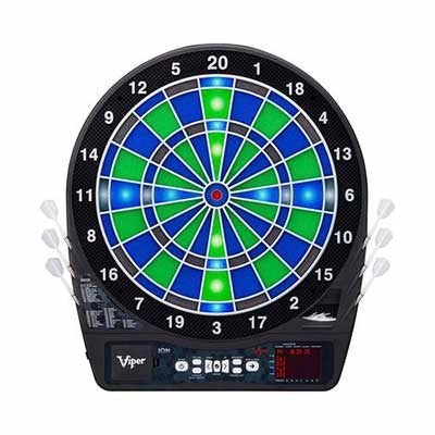 #5. Viper Ion Illuminated Light-Based Green & Blue Segment Color Ultra-Thin Electronic Dartboard