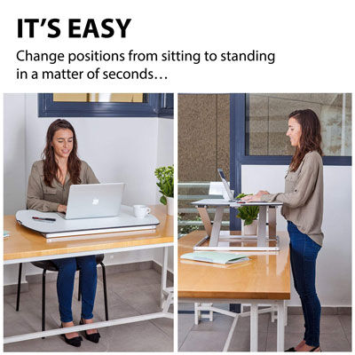 6. G Pro Slim Adjustable Standing Desk Converter