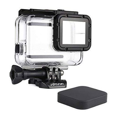 4. SOONSUN 45m Waterproof Dive Case, Black Camera