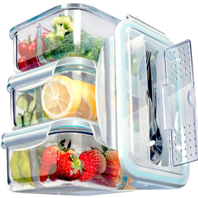 #8. S SALIENT Glass Food Storage Containers