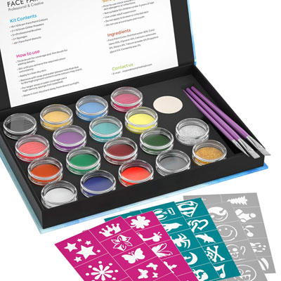 9. Nicpro Professional Face Painting Kit