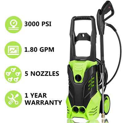 #4. Meditool Electric Pressure Washer 3000 PSI