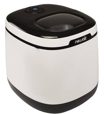 #2. NewAir AI-250W 50lbs Daily Bullet Shaped Ice Countertop Portable Ice Maker (Black & White)