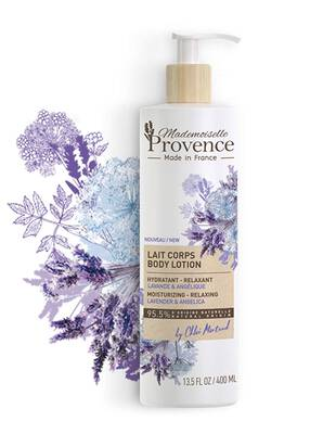 #9. Mademoiselle Provence Angelica Extracts 13.5 Oz Natural French Lavender Moisturizer for Dry Skin
