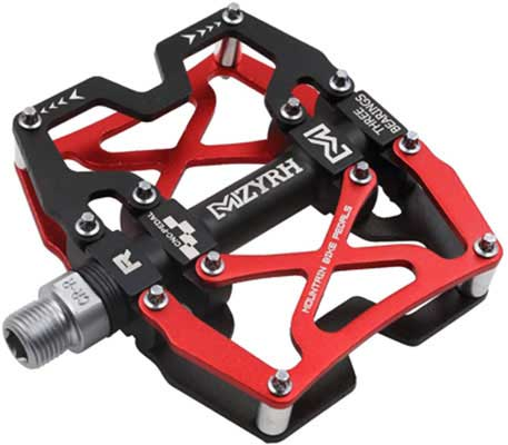 5. Mzyrh Mountain Bike Pedals, Colorful and Strong
