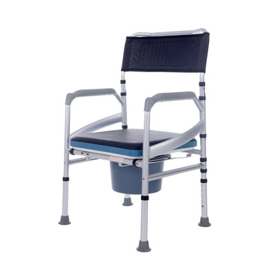 4. SUKONG Bedside Commode Aluminum Portable Shower Chair