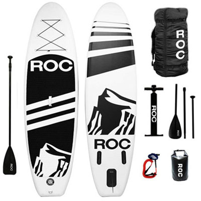 6- Roc Paddle Boards with Premium Backpack for Youths and Adults