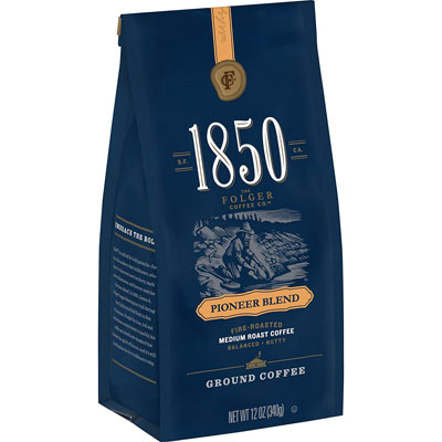 1. 1850 Pioneer Blend, Ground Coffee (Pack of 6)