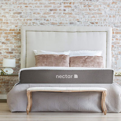 9. Nectar Twin Mattress with 2 Free Pillows