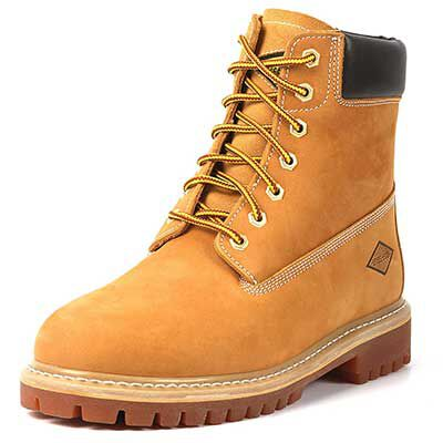 #9. Steel Edge slip-resistant work boots with rubberized outsoles