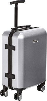 #10. AmazonBasics Hardshell 22inch Built-in TSA Lock Spacious 40 Liters Capacity Spinner Suitcase