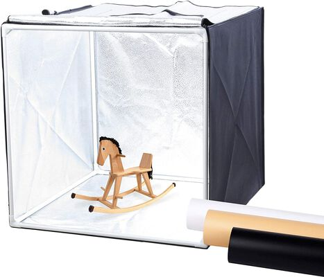6. Finnhommy Tabletop Tent Portable Photo Studio Light Box with a Light Softener Cloth