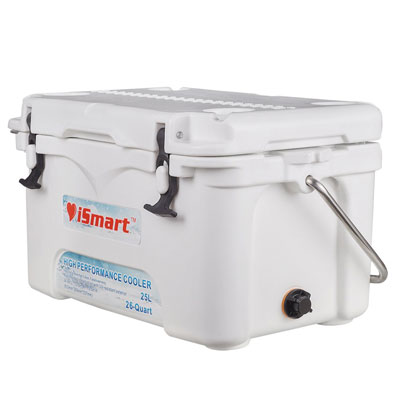 9. iSmart 26 Quart Remolded Cooler Box, White