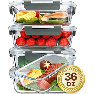 #5. Mcirco Single Compartment Glass Food Storage Containers