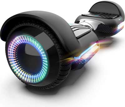 #3. Gyroor Swift with Music Speaker & LED Lights 6.5'' Two-Wheel Hoverboard Self-Balancing Scooter