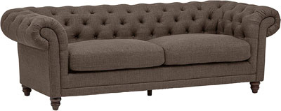 #4. Stone & Beam Tufted Sofa Couch, Warm Grey