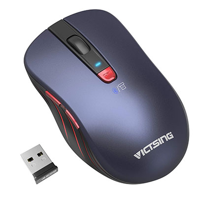 8. VicTsing Bluetooth Mouse with Bluetooth 4.0/2.4G and Universal Compatibility