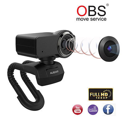 1. AUSDOM Full HD 1080p OBS Live Streaming Webcam