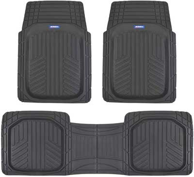 #8. ACDelco ACOF-933-BK 3 Pcs Set Heavy Duty Liners Black All-Weather Floor Mats