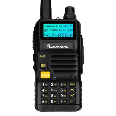 10. Quansheng UV-R50 Dual Band Walkie Talkie- Battery & Charger Included
