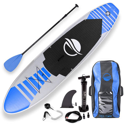 7- SereneLife Inflatable Paddle Board, Non-Slip Deck