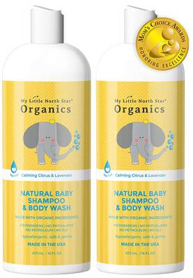 #5. My Little North Star Organic Baby Shampoo and Body Wash