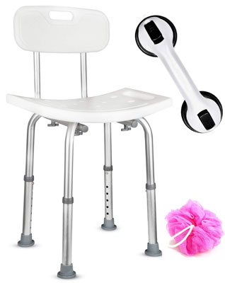 7. Dr. Maya Adjustable Shower Chair - Anti-Slip Bench Stool for Safety