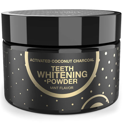 4. Fairywill Activated Powder Peppermint Flavor Charcoal Teeth Whitening