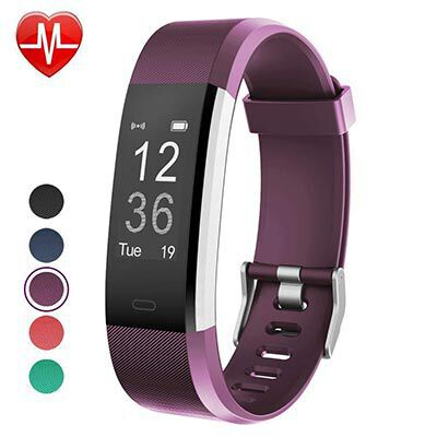 2. YAMAY IP67 Waterproof Fitness Tracker, with a Slim Pedometer