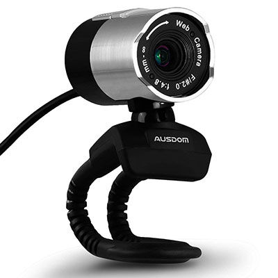 8. AUSDOM Web Camera with Microphone Full HD Webcam