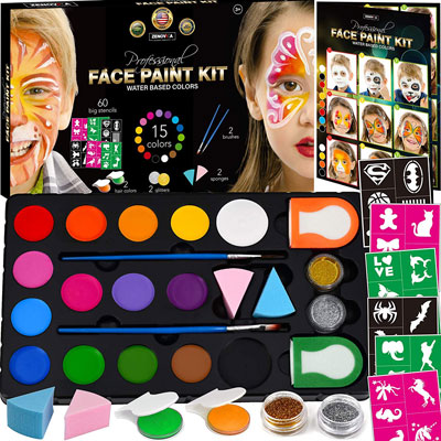 3. Zenovika Face Painting Kit for Kids