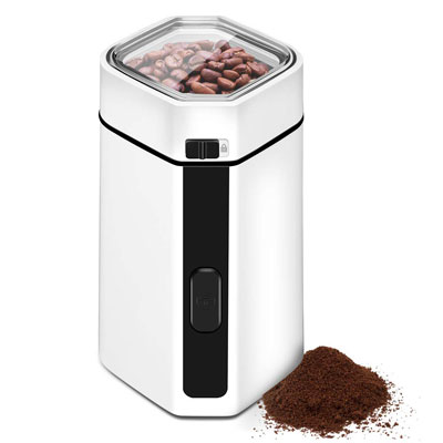 2. CUSIBOX Coffee Grinder Electric, Stainless Steel Blade & Compact Size