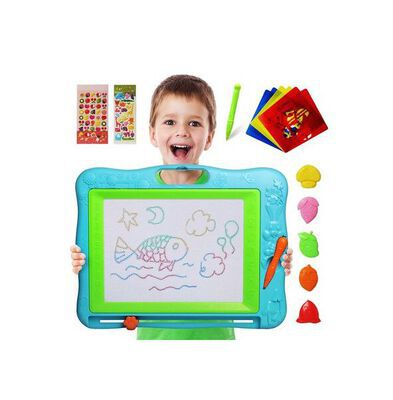 1. Gamenote Extra Large Magnetic Drawing Board Toy for Kids with Stamps and Stencils