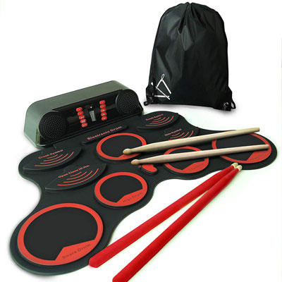 3. MiniArtis Roll up Drum Set with Built-In Speakers and a Carrying Case