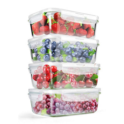 #10. Maxware Glass Food Storage Containers