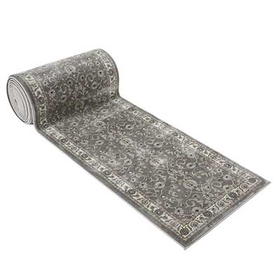 #1.Luxury Collection 25 feet Stair Runner Rugs (Grey)