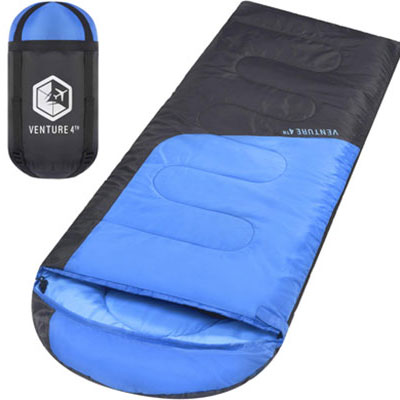 7. VENTURE 4TH Sleeping Bag – Lightweight and Comfortable for Hiking and Camping