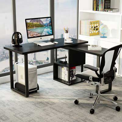 4. Tribesigns Computer Desk, Modern L-Shaped Desk