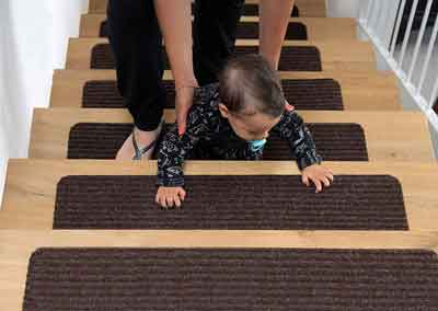 #5. EdenProducts Non-Slip Patent Pending Stair Treads for Kids, Dogs and Elders