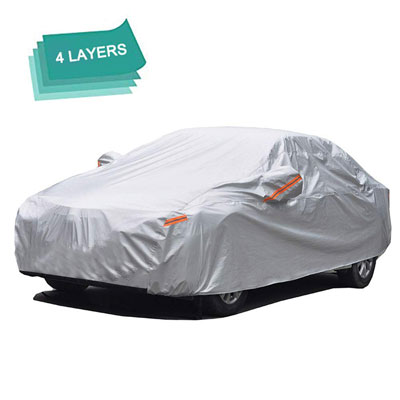 9. GUNHYI Car Cover Waterproof for Outdoor and Indoor Use