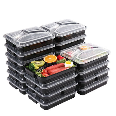 10. YOUKIUS Meal Prep Containers- BPA Free and Dishwasher Safe (32 oz.)