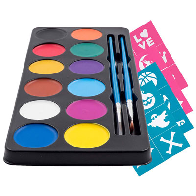 2. Create a Face Painting Palette (12 Vibrant Colors) - Super Easy On/Off