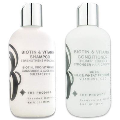 4. B THE PRODUCT Biotin Hair Growth Shampoo and Conditioner for Fast Hair Growth