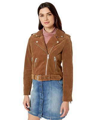 2. Levi's Women's Leather Asymmetrical Motorcycle Jacket