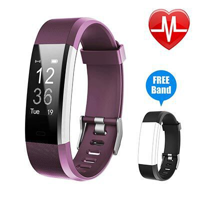 6. Letsfit Fitness Tracker HR, IP67 Water Resistant for Android and iOS